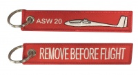 ASW 20 / Remove Before Flight - Keyring
